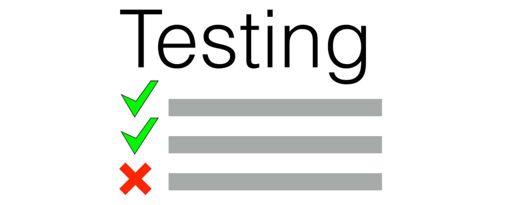 Testingの文字と画像
